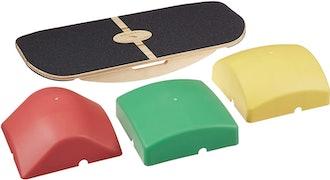 Blue Planet Balance Surfer Bamboo Wooden Balance Board