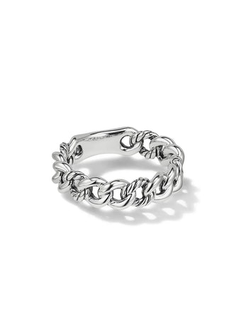 Belmont Curb Link Narrow Sterling Silver Ring