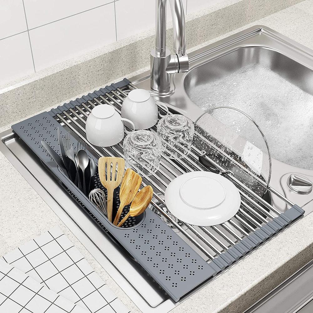 BAMEOS Roll-Up Dish-Drying Rack