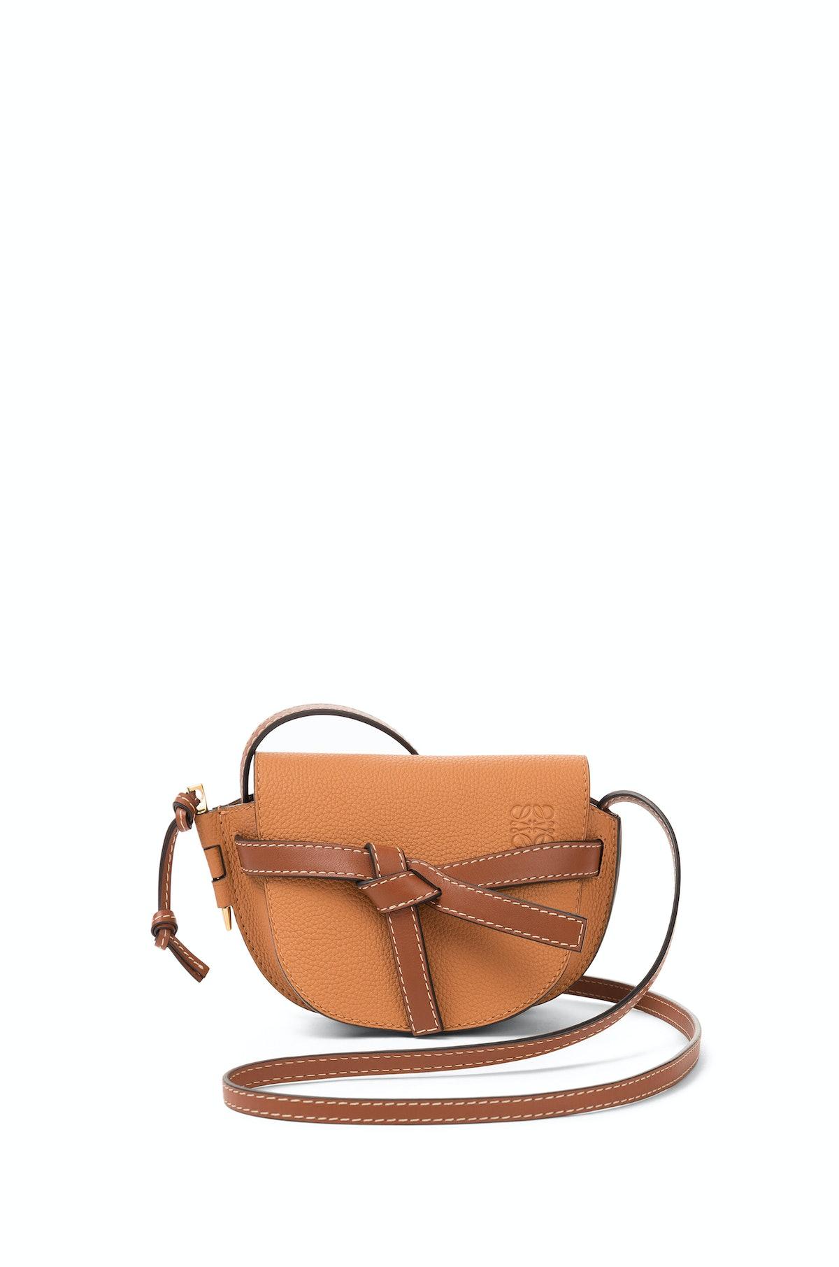 Mini Gate Bag in Light Caramel/Pecan