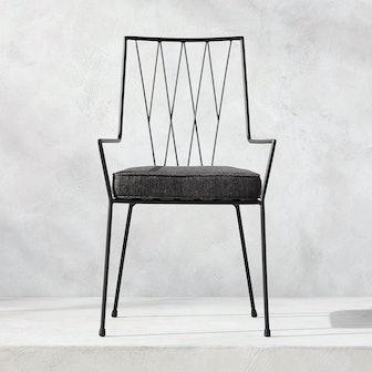 Paul McCobb Pavilion Dining Chair With Grey Sunbrella Cushion Model 6160