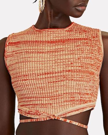 Space Dye Knit Crop Top