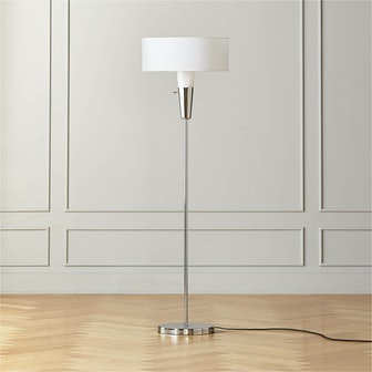 Paul McCobb Exposior Polished Nickel Floor Lamp Model 2001