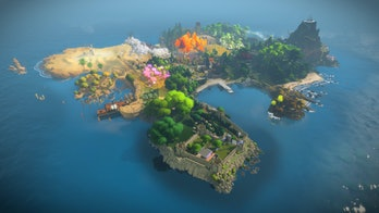 the witness puzzle game island full map
