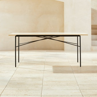Paul McCobb Pavilion Travertine Dining Table Model 6141