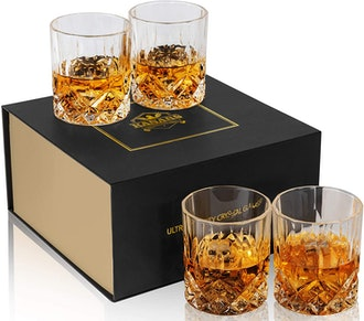 KANARS Old Fashioned Whiskey Glasses (4-Pack)