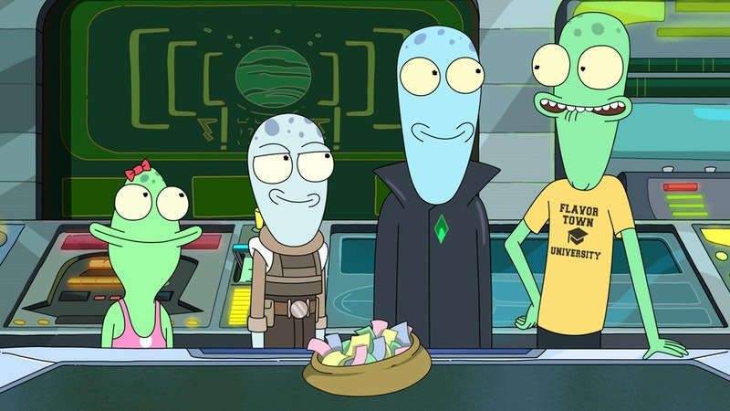 The aliens in 'Solar Opposites,' via Hulu press site.