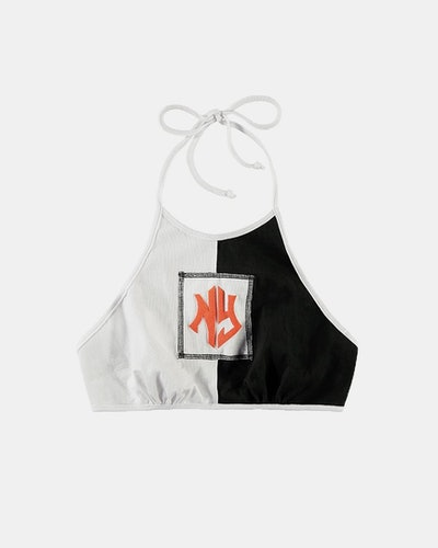 NY Blocked Halter Top