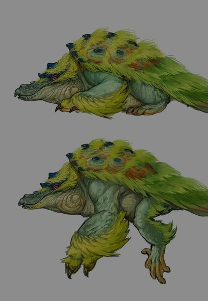 concept art of tetranadon from monster hunter rise