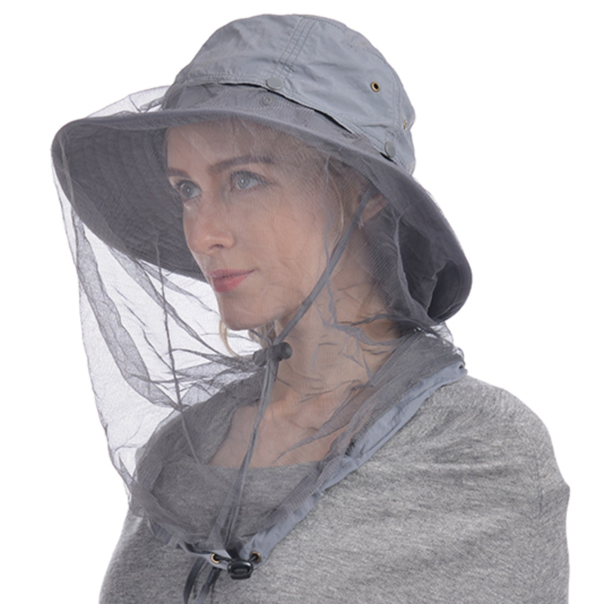 Ushake Sun Hat with Hidden Net
