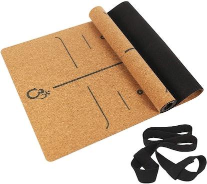MASDERY Cork Yoga Mat