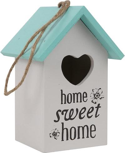Trenton Gifts Hand Painted Bird House Key Keeper Bird House
