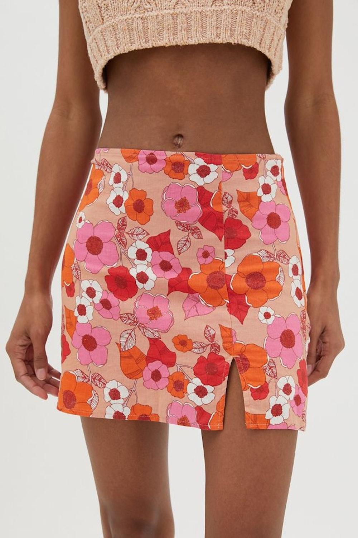 UO Rosie Notched Pelmet Mini Skirt