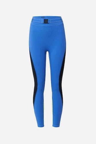Trek Belt Bag Legging in Laguna Blue
