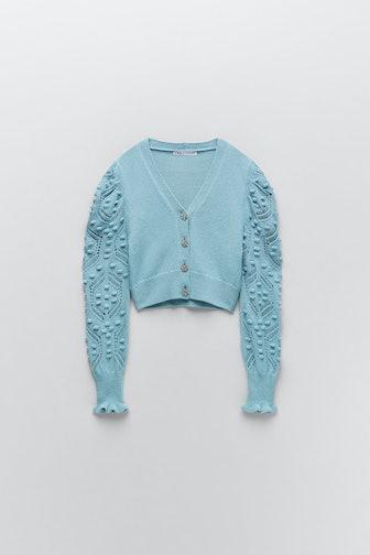 Jewel Button Knit Cardigan