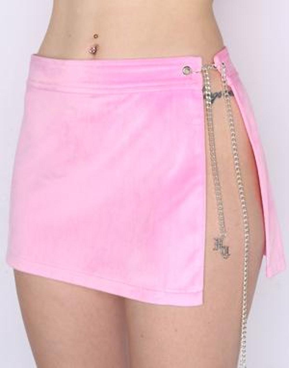 Atala Velvet Pink Mini Skirt