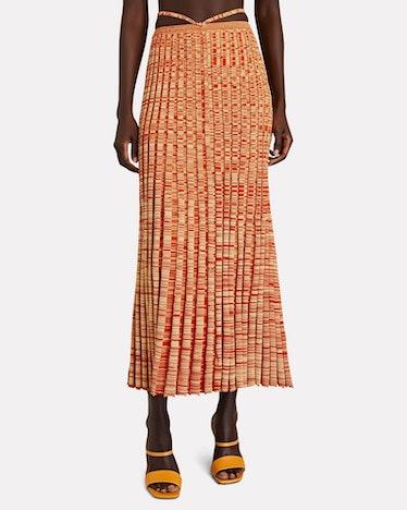 Space Dye Knit Midi Skirt