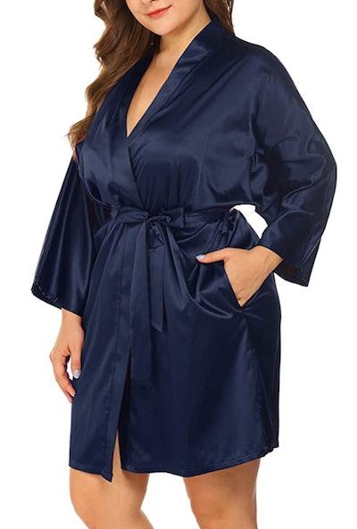 Women's Plus Size Silky Robe