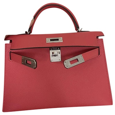 Hermes Kelly Leather Mini Bag in Pink