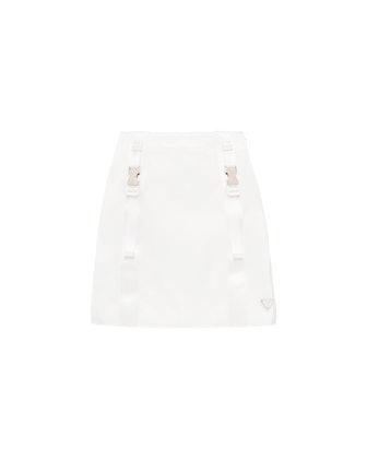 Re-Nylon Gabardine Mini Skirt