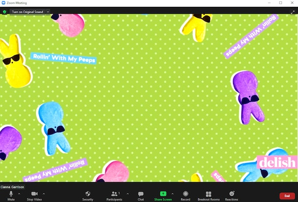 These Easter Zoom backgrounds include cute bunnies and pretty flowers.