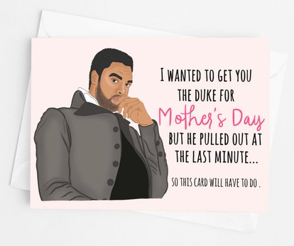 Bridgerton Duke of Hastings Mother's Day Greeting Card