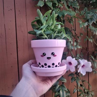 Boba Tea Plant Pot