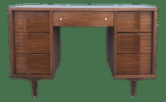 Mid Century Modern 7 Drawer Writing Desk