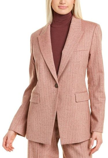 Heather Wool-Blend Jacket