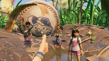 grounded obsidian baseball small big thumbs up squad