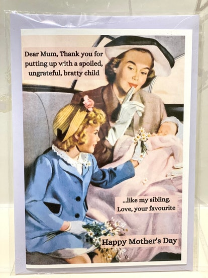 Funny Mothers Day Card, Retro Mother's Day Card