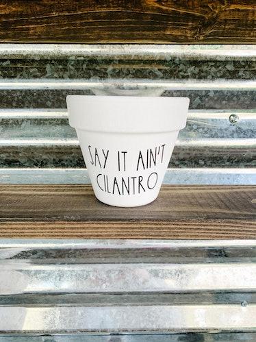 Say It Ain't Cilantro Planter