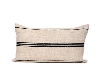 14x24  Vintage Hemp Textile Lumbar Pillow Cover