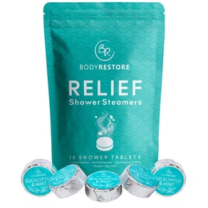 Body Restore Essential Oil Shower Steamers (15 Pack)