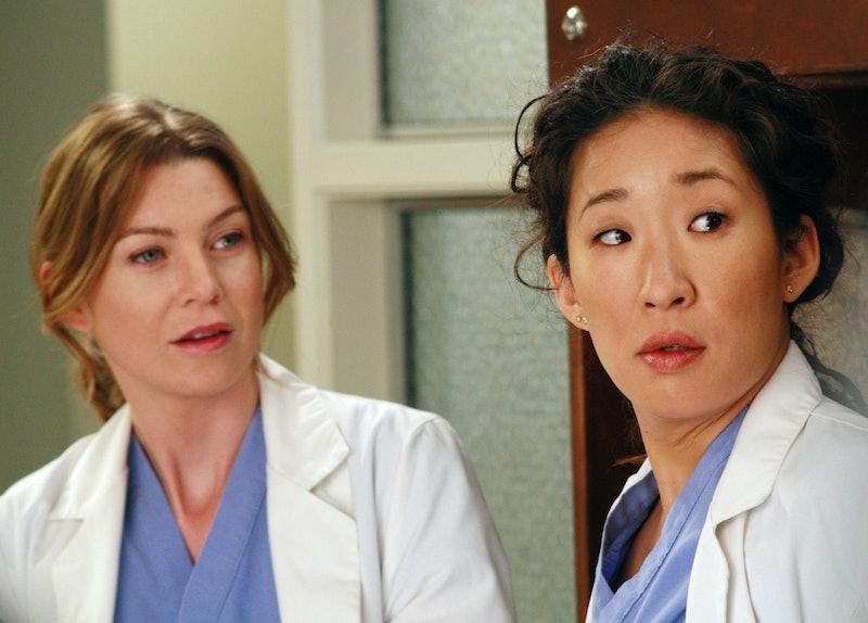 Ellen Pompeo as Meredith Grey & Sandra Oh as Cristina Yang in 'Grey's Anatomy'