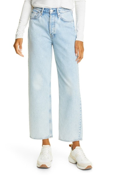 Maya High-Waist Ankle Straight Leg Jeans