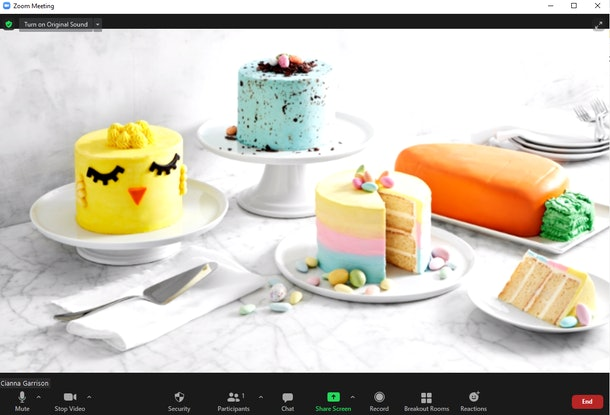 These Easter Zoom backgrounds include so many cute dessert options.