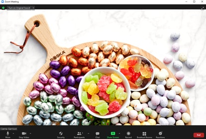 These Easter Zoom backgrounds include festive candies and cookies.