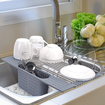 MEYONER Roll-Up Dish Drying Rack