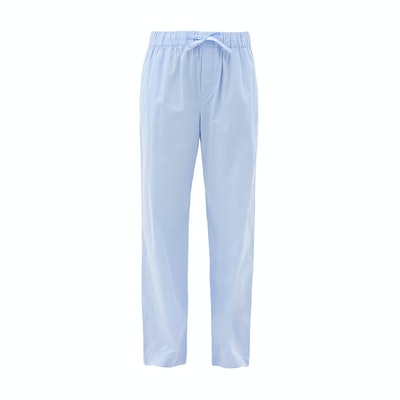 Tekla Organic cotton poplin trouser