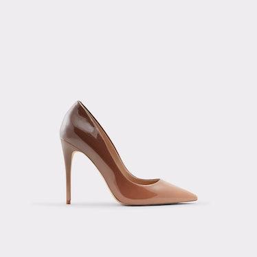 Stessy Stiletto Heel in Medium Red