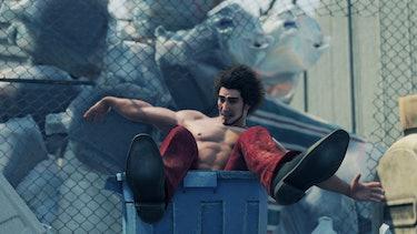 yakuza like a dragon kasuga trash can dump ichiban