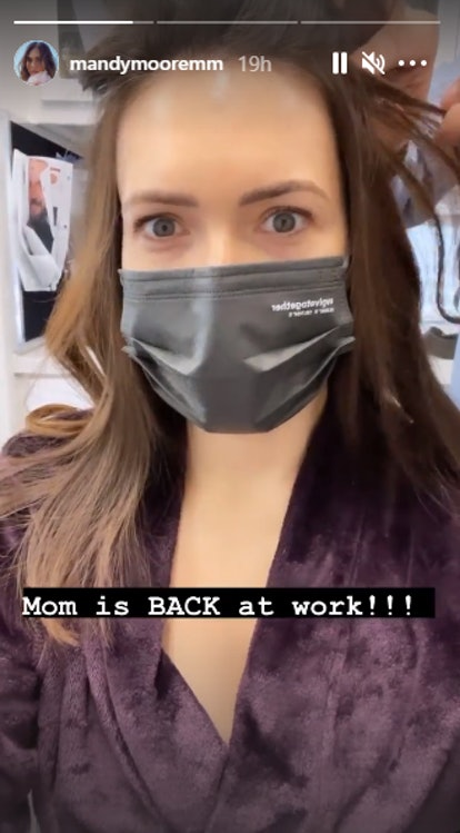 Mandy Moore heads back to work for 'This Is Us.'