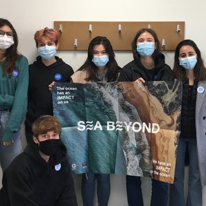 High school students participating in the UNESCO x Prada Group Sea Beyond environmental initiative.