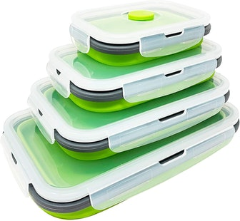 SuperDee Corp Collapsible Food Storage Containers (Set of 4)