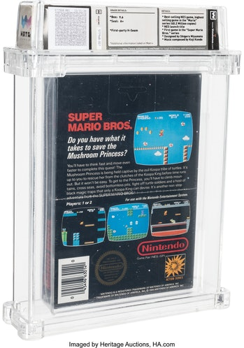 An unsealed copy of Super Mario Bros. for the NES is at auction for more than $310,000.
