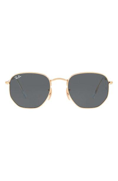 51mm Hexagonal Flat Lens Sunglasses