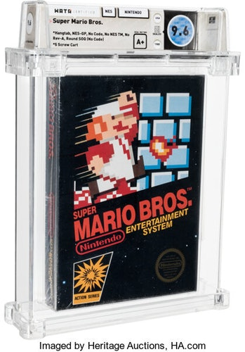 An unsealed copy of Super Mario Bros. is at auction for more than $310,000.