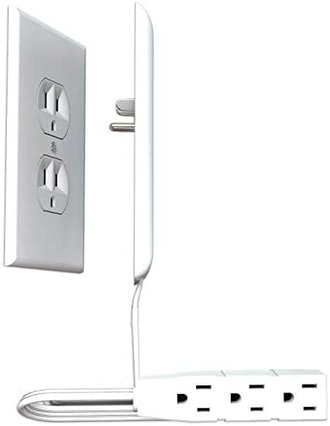 Sleek Socket Ultra Thin Outlet Cover with Power Strip