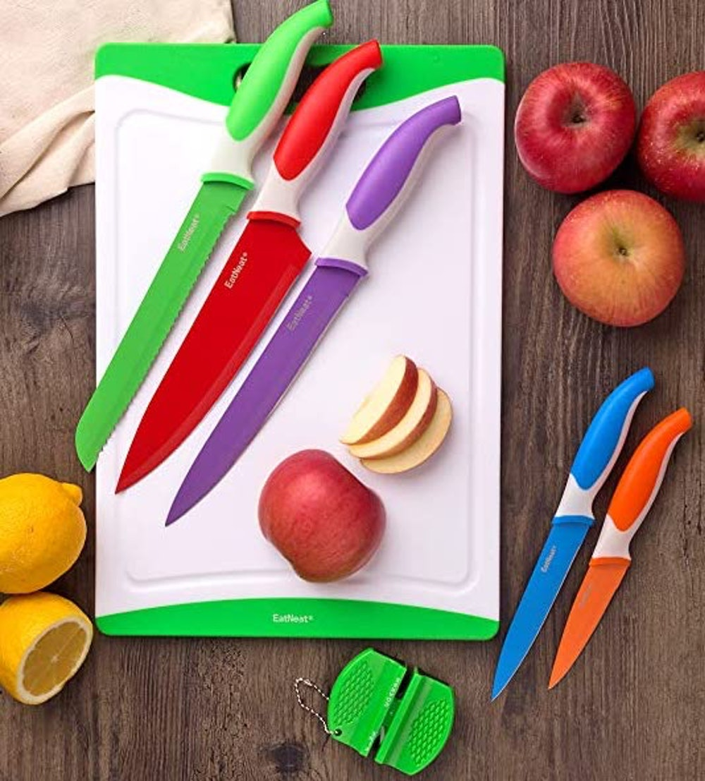 EatNeat Knife Set with Cutting Board (12-Pieces)